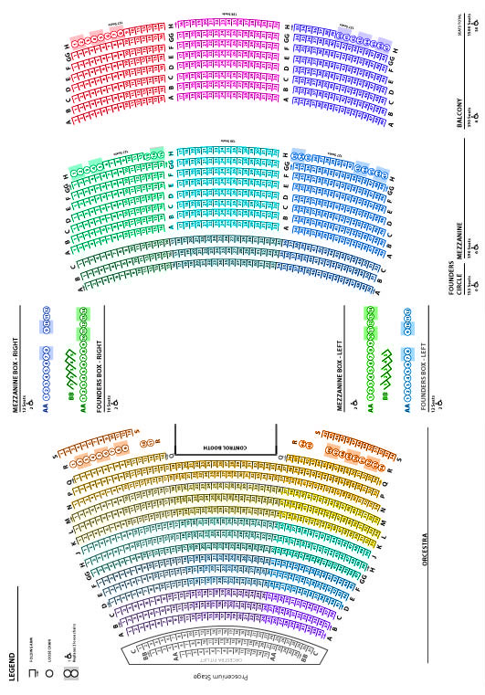 Kavli Theatre Detailed Seating Chart | Civic Arts Plaza | Official